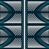 Modèle sans couture des rayures et des couleurs de courbe bleu et blanches Photos stock