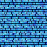 Modèle sans couture des rectangles olographes bleus créateur illustration libre de droits