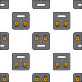 Modèle sans couture des robots Image stock