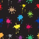 Modèle sans couture des taches colorées Image stock