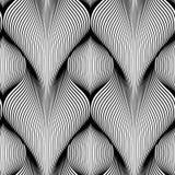 Modèle sans couture des vagues géométriques avec l'effet de volume Texture élégante sans fin Fond de monochrome d'ondulation illustration stock