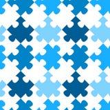Modèle sans couture diagonal de puzzle denteux Photographie stock libre de droits