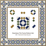 Modèle sans couture Diamond Check Square Geometry de cadre de tuile illustration libre de droits