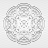 Modèle sans couture du blanc 3D Images libres de droits