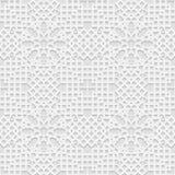 Modèle sans couture du blanc 3D illustration de vecteur