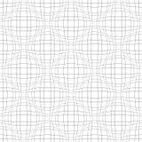 Modèle sans couture du corps convexe 3D Lignes onduleuses texture Photographie stock
