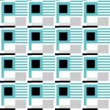 Modèle sans couture du figu géométrique de turquoise, gris et noir illustration stock