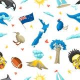 Modèle sans couture du Nouvelle-Zélande illustration de vecteur