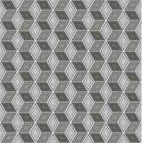 Modèle sans couture du résumé 3D - cubes dans un squelette de fil Images stock