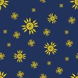 Modèle sans couture du soleil Photo libre de droits