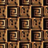 Modèle sans couture du vecteur 3d antique grec Bagout moderne abstrait Photos stock