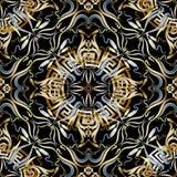 Modèle sans couture du vecteur 3d floral grec de vintage illustration de vecteur