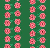 Modèle sans couture embrouillé de rangées roses de fleurs photographie stock