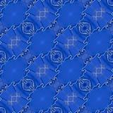 Modèle sans couture en cuir bleu photos stock