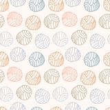 Modèle sans couture en pastel de point de polka de griffonnage, fond Image libre de droits