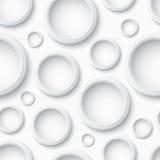 Modèle sans couture en plastique blanc avec des cercles Photo stock