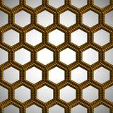 Modèle sans couture en plastique hexagonal Images libres de droits