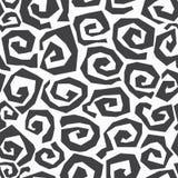 Modèle sans couture en spirale monochrome Photos libres de droits