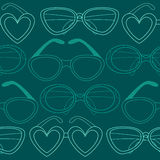 Modèle sans couture en verre, rétros lunettes de soleil Illustration de vecteur Photo libre de droits