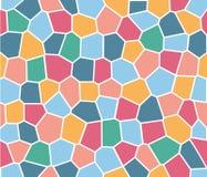 Modèle sans couture en verre souillé de vecteur coloré de tuile Images libres de droits
