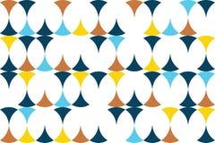 Modèle sans couture et abstrait de fond fait avec des formes circulaires illustration stock