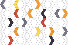 Modèle sans couture et abstrait de fond fait avec des formes colorées de chevron illustration de vecteur