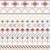 Modèle sans couture ethnique coloré aztèque, fond clair tribal Photographie stock
