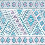 Modèle sans couture ethnique de vintage mexicain tribal Photo libre de droits