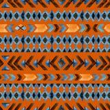 Modèle sans couture ethnique géométrique Images libres de droits