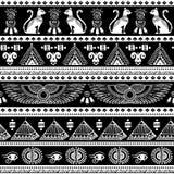 Modèle sans couture ethnique tribal avec des symboles de l'Egypte Image libre de droits