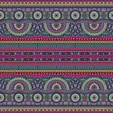 Modèle sans couture ethnique tribal de vecteur abstrait Images libres de droits