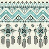 Modèle sans couture ethnique tribal de vecteur Idéal pour imprimer sur le tissu, papier, web design Image stock