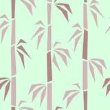 Modèle sans couture extérieur en bambou illustration stock