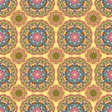 Modèle sans couture fait à partir du mandala abstrait de cercle illustration libre de droits