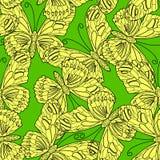 Modèle sans couture fait de papillons illustration stock