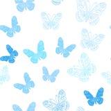 Modèle sans couture fait de papillons de glace illustration stock