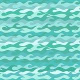 Modèle sans couture fait de vagues de mer illustration de vecteur
