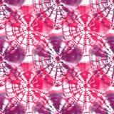 Modèle sans couture fait main de texture de colorant de lien pour le projet créatif Images libres de droits