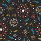 Modèle sans couture, flocons de neige stylisés photographie stock libre de droits
