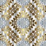 Modèle sans couture floral abstrait Fond argenté d'élégance wal Photographie stock