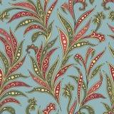 Modèle sans couture floral avec des fleurs et des feuilles Fond floral ornemental de l'orient Photo stock