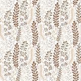 Modèle sans couture floral avec les feuilles stylisées ornementales Texture sans fin, calibre pour le tissu, textile, enveloppant Photo libre de droits