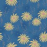 Modèle sans couture floral avec les fleurs sensibles, main-dessin Illustration de vecteur Daisy Themed Repeating Pattern Photos stock