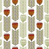 Modèle sans couture floral avec les fleurs stylisées ornementales Texture sans fin, calibre pour le tissu, textile, s'enveloppant Image stock