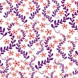 Modèle sans couture floral, beau, champ de petites fleurs en FO Photo stock