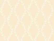 Modèle sans couture floral blanc des feuilles illustration stock