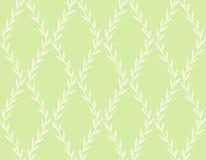 Modèle sans couture floral blanc des feuilles sur le vert illustration libre de droits