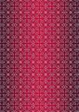 Modèle sans couture floral blanc sur le fond rouge de gradient Images stock