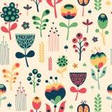 Modèle sans couture floral coloré sur le fond clair Photographie stock