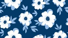 Modèle sans couture floral d'été pâle de couleur illustration de vecteur